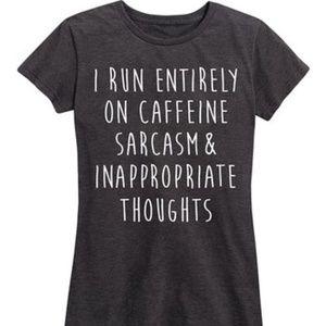 NEW🎉I Run on Caffeine, Sarcasm...tee S & M